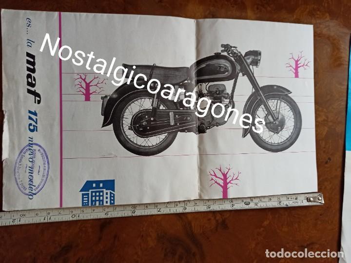 Coches y Motocicletas: Catálogo moto catalana MAF 175 fabricada en Figueres desplegable concesionario Pedro Glez d Zaragoza - Foto 2 - 241866135