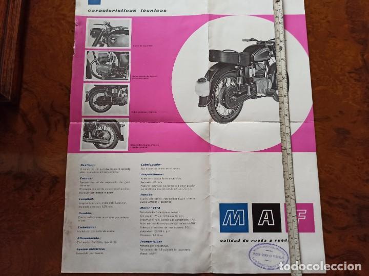 Coches y Motocicletas: Catálogo moto catalana MAF 175 fabricada en Figueres desplegable concesionario Pedro Glez d Zaragoza - Foto 3 - 241866135