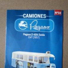 Coches y Motocicletas: FASCÍCULO 59 PEGASO Z-404 SEIDA EMT (1957) COLECCIÓN CAMIONES PEGASO SALVAT NUEVO. Lote 263019780