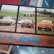 Coches y Motocicletas: ANTIGUO FOLLETO CATALOGO COCHE AUTOMOVIL SKODA 1972. Lote 242329250