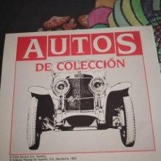 Coches y Motocicletas: AUTOS DE COLECCIÓN. FICHAS DEL 1 AL 60.. Lote 242365930