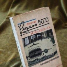 Coches y Motocicletas: AUTOCAR PEGASO 5070,SETRA-SEIDA S-14, INSTRUCCIONES Y ENTRETENIMIENTO,FEBRERO 1967.. Lote 242881745