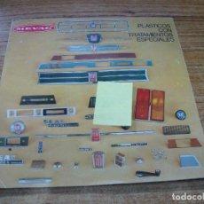 Coches y Motocicletas: DIPTICO MEVAC PLASTICOS CON TRATAMIENTOS SEAT FIAT. Lote 243152680