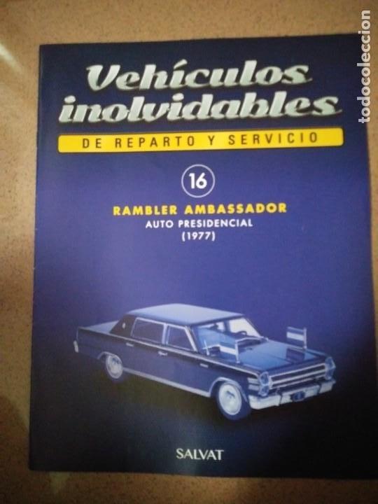 FASCÍCULO 16 RAMBLER AMBASSADOR (1977) COLECCIÓN VEHÍCULOS INOLVIDABLES DE REPARTO Y SERVICIO NUEVO (Coches y Motocicletas Antiguas y Clásicas - Catálogos, Publicidad y Libros de mecánica)