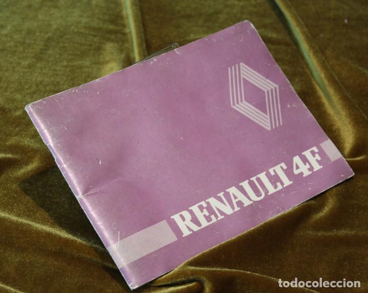 RENAULT 4F, MANUAL DE UTILIZACIÓN Y ENTRETINIMIENTO,1ª EDICIÓN,ENERO 1981 (Coches y Motocicletas Antiguas y Clásicas - Catálogos, Publicidad y Libros de mecánica)