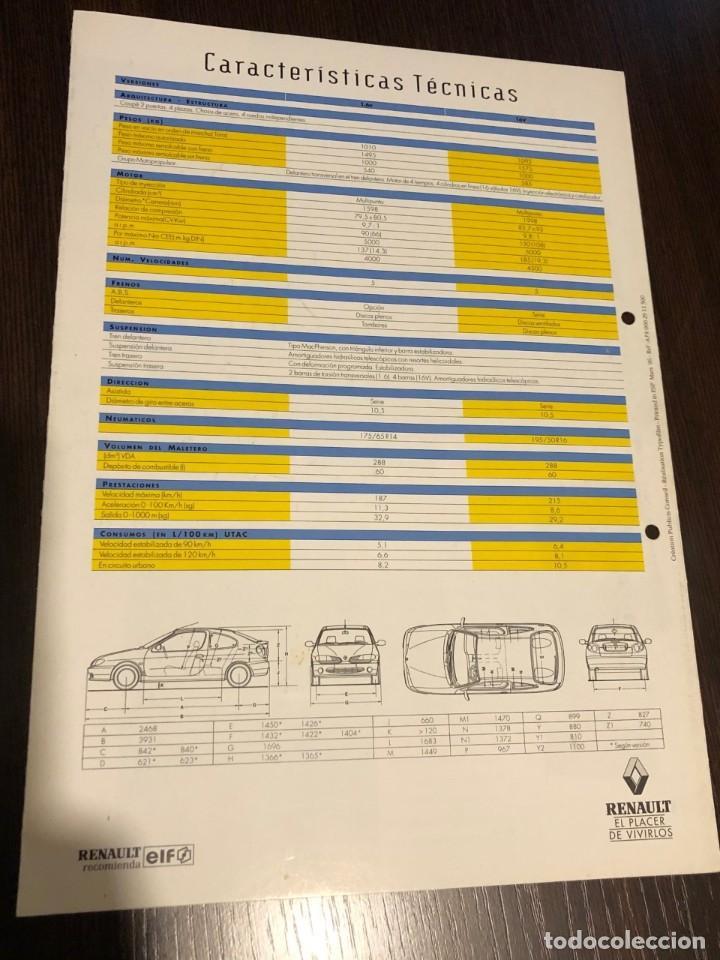 Coches y Motocicletas: Catálogo Renault Megane Coupe (1996) - Foto 2 - 243649380
