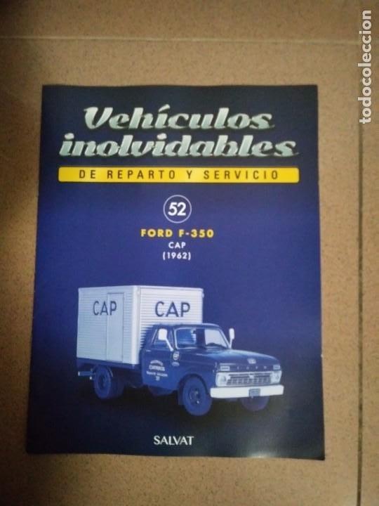 FASCÍCULO 52 FORD F-350 CAP (1962) COLECCIÓN VEHÍCULOS INOLVIDABLES DE REPARTO Y SERVICIO NUEVO (Coches y Motocicletas Antiguas y Clásicas - Catálogos, Publicidad y Libros de mecánica)