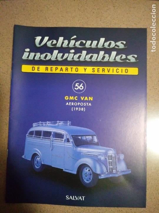 FASCÍCULO 56 GMC VAN AEROPOSTA (1938) COLECCIÓN VEHÍCULOS INOLVIDABLES DE REPARTO Y SERVICIO NUEVO (Coches y Motocicletas Antiguas y Clásicas - Catálogos, Publicidad y Libros de mecánica)