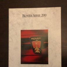 Coches y Motocicletas: CATALOGO ROVER SERIE 200. Lote 243672855