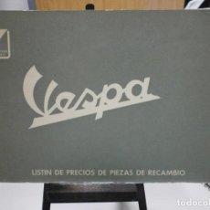Coches y Motocicletas: CATALOGO VESPA AÑO 1963 LISTIN DE PRECIOS PIEZAS Y RECAMBIOS ORIGINAL POCO USO. Lote 243846215