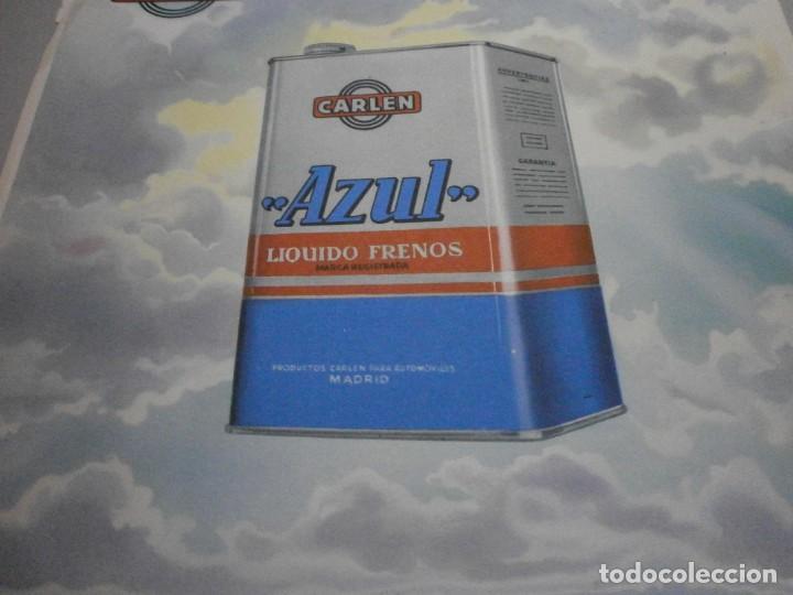 Coches y Motocicletas: folleto cartel publicidad carlen azul liquido de frenos años 50 original - Foto 2 - 243848025