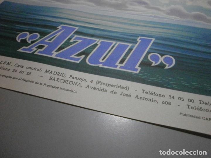 Coches y Motocicletas: folleto cartel publicidad carlen azul liquido de frenos años 50 original mide 27x20 - Foto 3 - 243848215