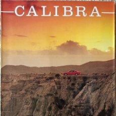 Coches y Motocicletas: CATÁLOGO OPEL CALIBRA. 1991. EN ESPAÑOL *. Lote 243862245