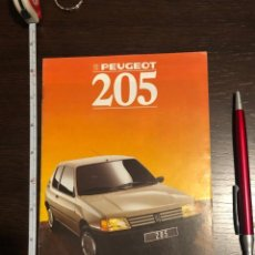 Coches y Motocicletas: MINI CATÁLOGO PEUGEOT 205 1988. Lote 243893755