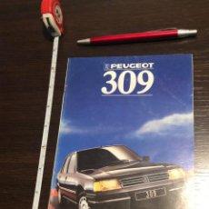 Coches y Motocicletas: MINI CATÁLOGO PEUGEOT 309 1988. Lote 243898380