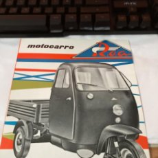 Coches y Motocicletas: CATALOGO MOTOCARRO ROA RC 600 VL. Lote 243899670