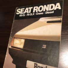 Coches y Motocicletas: CATÁLOGO SEAT RONDA (1982) DETERIORADO. Lote 243910740