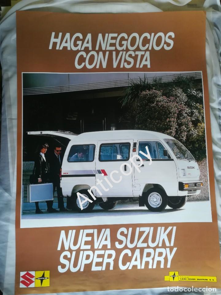 IMPRESIONANTE PÓSTER CARTEL SUZUKI SUPER CARRY AÑO 1988 (Coches y Motocicletas Antiguas y Clásicas - Catálogos, Publicidad y Libros de mecánica)
