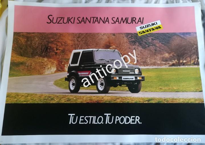 IMPRESIONANTE PÓSTER CARTEL SUZUKI SANTANA SAMURAI AÑO 1989 (Coches y Motocicletas Antiguas y Clásicas - Catálogos, Publicidad y Libros de mecánica)