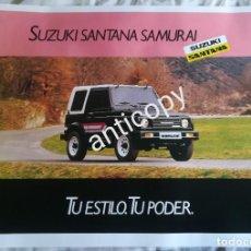 Coches y Motocicletas: IMPRESIONANTE PÓSTER CARTEL SUZUKI SANTANA SAMURAI AÑO 1989. Lote 244455000