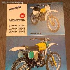 Coches y Motocicletas: MOTO MONTESA CAPPRA 414VE, 250 VE Y 125VE CATALOGO PUBLICITARIO ORIGINAL 1979. Lote 257663250