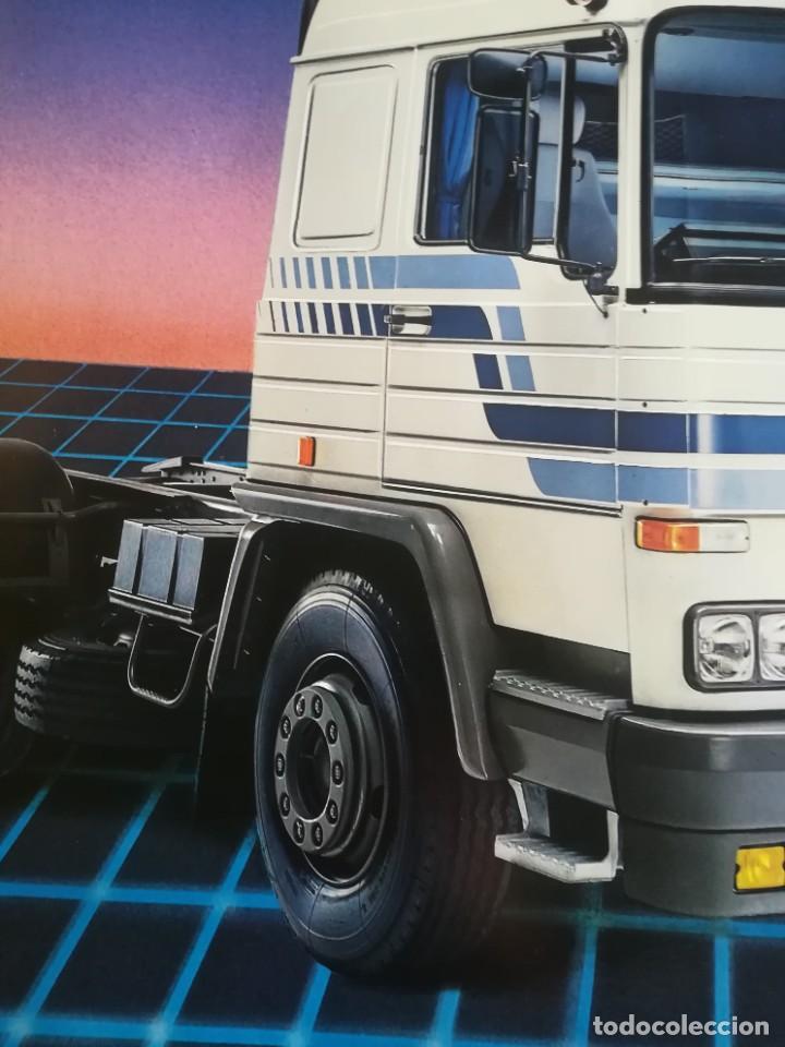 Coches y Motocicletas: Impresionante póster cartel camión Pegaso Tecno año 1985 - Foto 3 - 244677750