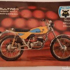 Carros e motociclos: BULTACO LOBITO / MANUAL DE INSTRUCCIONES 1972 / OWNER'S MANUAL 74 C.C / 125 C.C / 175 C.C. Lote 245590560