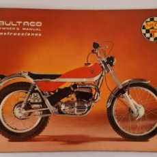 Carros e motociclos: BULTACO SHERPA T / MANUAL DE INSTRUCCIONES VERSION INGLES 1971 / ENGLISH VERSION. Lote 245595625