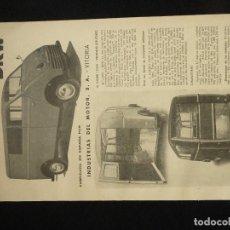 Automobili e Motociclette: DKW/AUTO·UNION-LAMINA ORIGINAL DIPTICO PUBLICITARIA-DKW·FURGONETA COMBI I. Lote 246129825