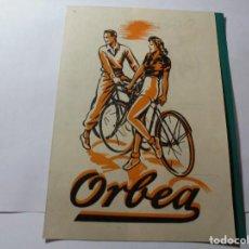 Coches y Motocicletas: MAGNIFICA ANTIGUA PUBLICIDAD ORBEA BICIBLETAS. Lote 246142790