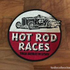 Carros e motociclos: PARCHE BORDADO HOD ROD RACES - ROCKER - ROCKABILLY KUSTOM KULTURE - TEDDY BOYS. Lote 246273980