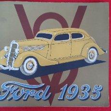 Coches y Motocicletas: CATALOGO COCHE AUTOMOVIL FORD 1935 ORIGINAL. Lote 248580235