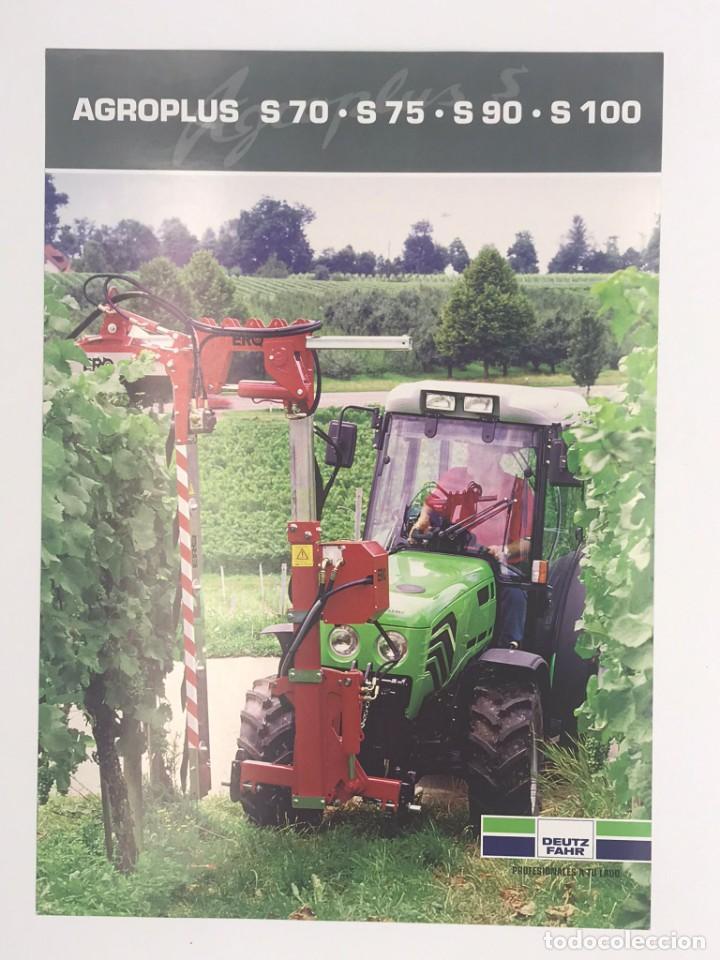 ANTIGUO FLYER AGROPLUS - TRACTORES DEUTZ FAHZ - 2005 (Coches y Motocicletas Antiguas y Clásicas - Catálogos, Publicidad y Libros de mecánica)