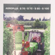 Coches y Motocicletas: ANTIGUO FLYER AGROPLUS - TRACTORES DEUTZ FAHZ - 2005. Lote 249061690
