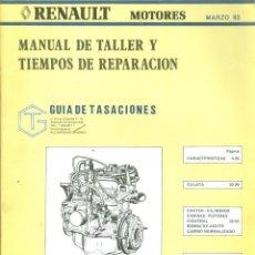Carros e motociclos: + MANUAL DE TALLER RENAULT. Lote 251644985