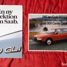 Coches y Motocicletas: 2 CATÁLOGOS SAAB 900 . SWE . 1981. Lote 178384578