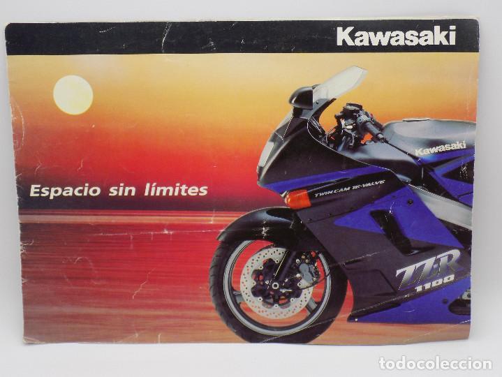 CATALOGO KAWASAKI AÑOS 90 (Coches y Motocicletas Antiguas y Clásicas - Catálogos, Publicidad y Libros de mecánica)