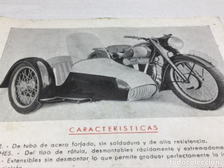Coches y Motocicletas: DIPTICO SIDE CARS SEMIOR - AÑOS 50 BARCELONA - CATALOGO PUBLICITARIO - Foto 2 - 253297595