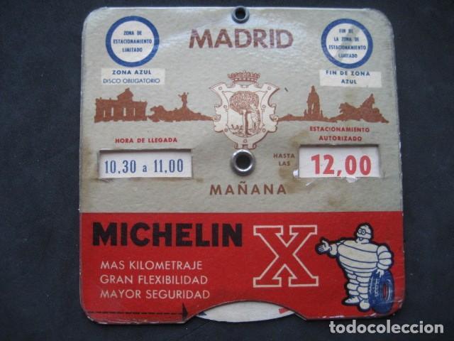 DISCO HORARIO NEUMATICOS MICHELIN. MADRID AÑOS 60 (Coches y Motocicletas Antiguas y Clásicas - Catálogos, Publicidad y Libros de mecánica)