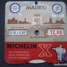 Coches y Motocicletas: DISCO HORARIO NEUMATICOS MICHELIN. MADRID AÑOS 60. Lote 253552610