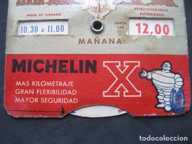 Coches y Motocicletas: DISCO HORARIO NEUMATICOS MICHELIN. MADRID AÑOS 60 - Foto 3 - 253552610