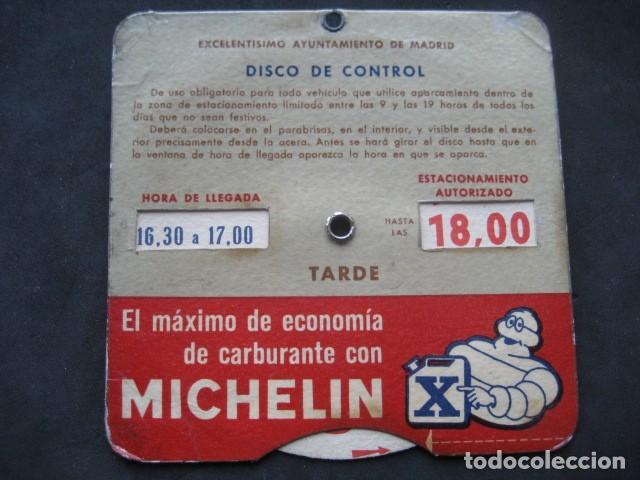 Coches y Motocicletas: DISCO HORARIO NEUMATICOS MICHELIN. MADRID AÑOS 60 - Foto 4 - 253552610