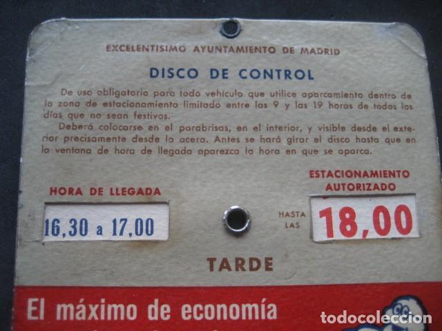 Coches y Motocicletas: DISCO HORARIO NEUMATICOS MICHELIN. MADRID AÑOS 60 - Foto 5 - 253552610