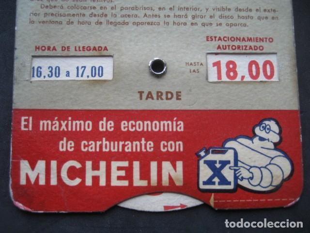 Coches y Motocicletas: DISCO HORARIO NEUMATICOS MICHELIN. MADRID AÑOS 60 - Foto 6 - 253552610