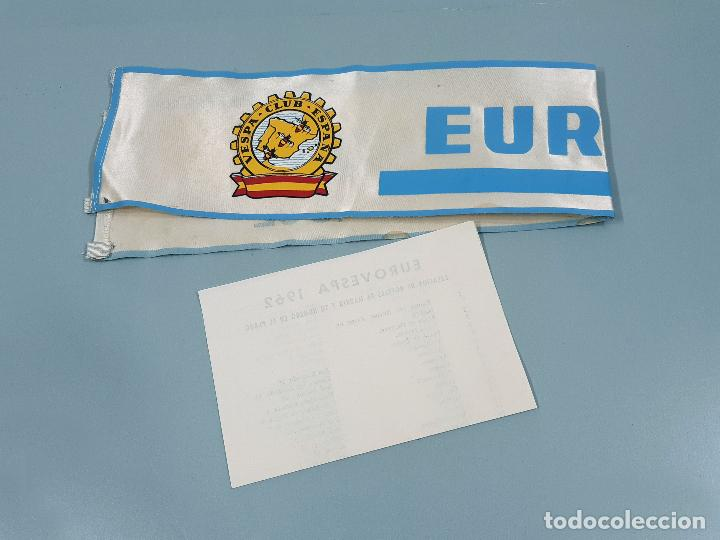 Coches y Motocicletas: DORSAL DE LA MOTO Y HOJA DE HOTELES DE EUROVESPA MADRID 62 - VESPA CLUB ESPAÑA 1962 - Foto 2 - 253553310