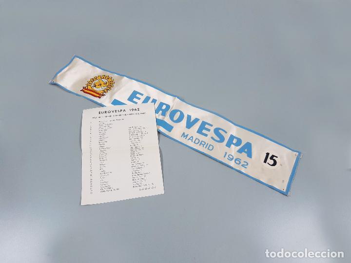 DORSAL DE LA MOTO Y HOJA DE HOTELES DE EUROVESPA MADRID 62 - VESPA CLUB ESPAÑA 1962 (Coches y Motocicletas Antiguas y Clásicas - Catálogos, Publicidad y Libros de mecánica)