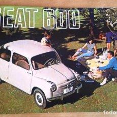 Carros e motociclos: SEAT 600 | 1958 CATÁLOGO-FOLLETO REPRO. Lote 253579575