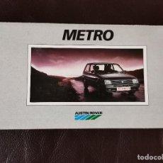 Coches y Motocicletas: 1989 CATÁLOGO AUSTIN ROVER METRO. Lote 253911635