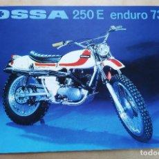 Automobili e Motociclette: OSSA 250 ENDURO E73 | 1973 | CATÁLOGO/FOLLETO REPRO. Lote 253933720