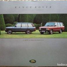 Coches y Motocicletas: CATÁLOGO RANGE ROVER. 1993. EN ESPAÑOL *. Lote 254046255
